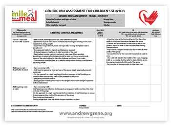 Generic Risk Assessment For Children's Services