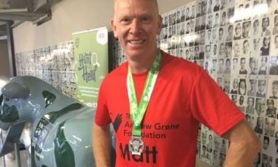 PB for Matt's MK half marathon!